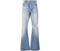 Bootcut-Jeans mit Distressed-Detail