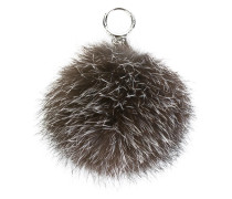 Schlüsselanhänger mit Fuchspelzbommel