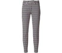 printed skinny cropped trousers