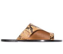 Sandalen mit Schlangen-Print