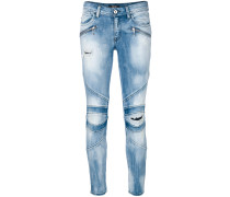 Bikerjeans im Distressed-Look