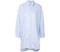 Langes Oversized-Hemd mit Streifen