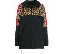 Windbreaker mit Leoparden-Print