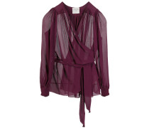 Semi-transparente Wickelbluse