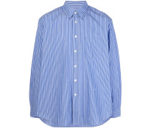 New Button striped-print shirt