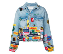 Jeansjacke mit Patches