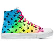 Mehrfarbige High-Top-Sneakers