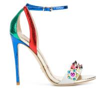studded high heel sandals