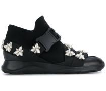 High-Top-Sneakers mit Kristallen