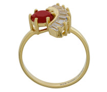 Vergoldeter 'Puro' Ring mit Zirkonia