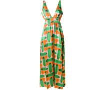 abstract pattern maxi dress