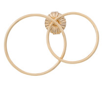 'Double Loop' Ohrring aus 14kt vergoldetem Sterlingsilber