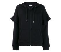 'Love you' zip-up hoodie