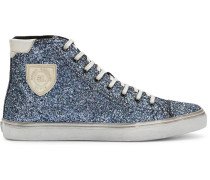 Bedford glitter hi-top sneakers