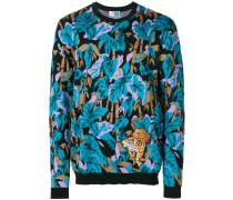 Pullover mit aufgesticktem Tigermotiv