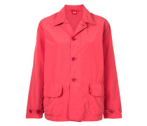 button-down fitted jacket