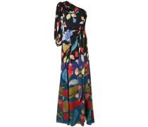 One-Shoulder-Kleid mit Blumen