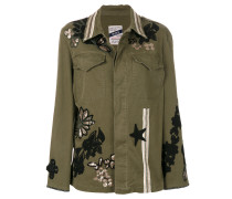 embroidered detail jacket