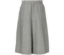 oversized houndstooth shorts