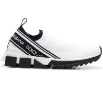 Slip-On-Sneakers mit Logos