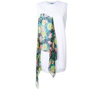 scarf panel mini shift dress