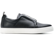 laceless low-top sneakers