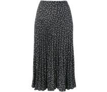 polka dotted skirt