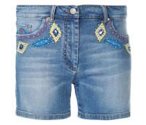 Jeans-Shorts mit Verzierung