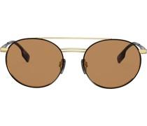aviator round frame sunglasses