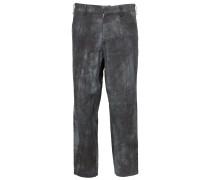 Cropped-Hose mit ausgewaschenem Print
