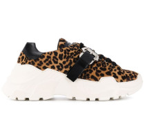 Sneakers mit Leopardenmuster
