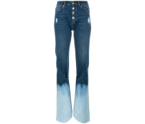 button bleached jeans