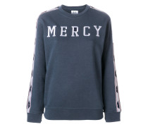 "Sweatshirt mit ""Mercy""-Stickerei"