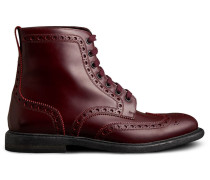 Brogue Detail Polished Leather Boots