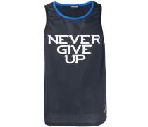 'Never give Up' Netz-Trägershirt
