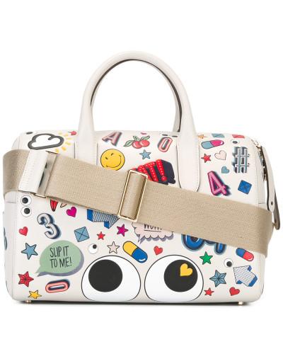 Handtasche mit Sticker-Print