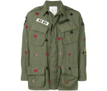 Bestickte Military-Jacke