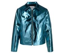 Leichte Jacke in Metallic-Optik