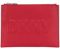 embossed logo pouch