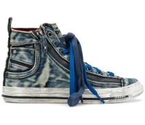 High-Top-Sneakers im Jeans-Look
