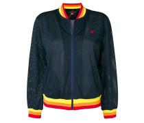 rainbow mesh bomber jacket
