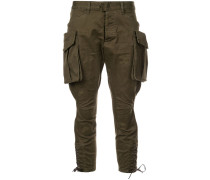 Cropped-Hose mit Cargotaschen