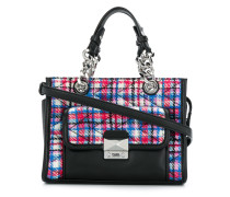 quilted tweed mini tote
