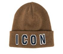 """Wollmütze mit """"Icon""""-Schriftzug"""