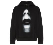 mouth print hoodie
