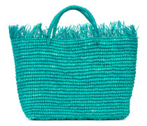 Gewebte Handtasche mit Fransen