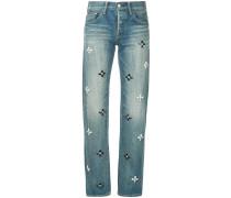 Bijoux flower jeans