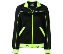 Trainingsjacke mit Neon-Paspeln