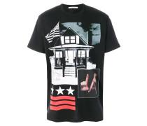 patchwork print T-shirt