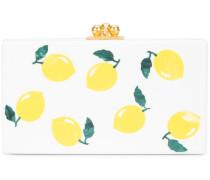 lemon print box clutch